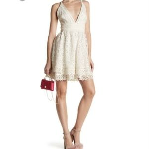 Lovers + Friends Crochet Lace Crossback Dress NIB